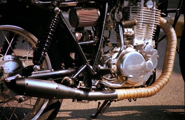Yamaha SR400 exhaust