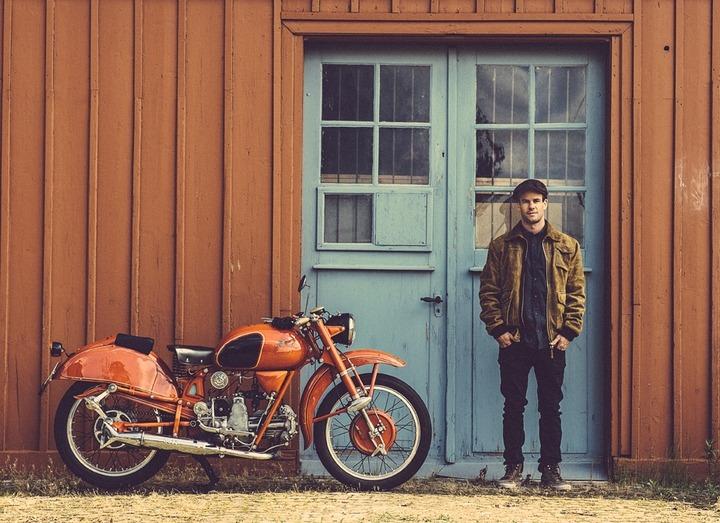 vintage Moto Guzzi motorcycle