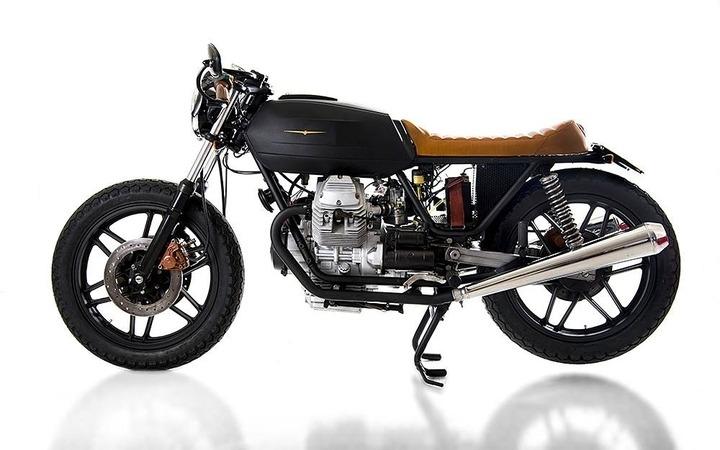 Custom Moto Guzzi V35 cafe racer