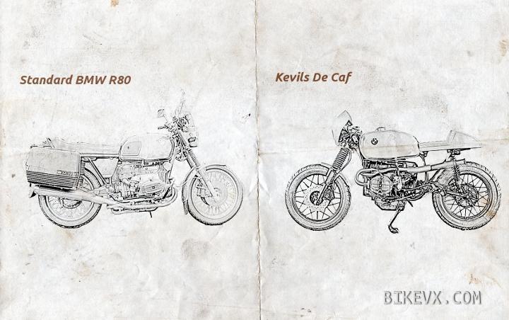 Standard BMW R80 vs Kevils De Caf