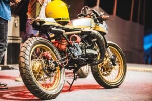 1985 Yamaha RD350 'Arrow' award winning build by 36 Moto