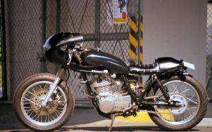 Yamaha SR400 Gentelman's blue by AN-BU