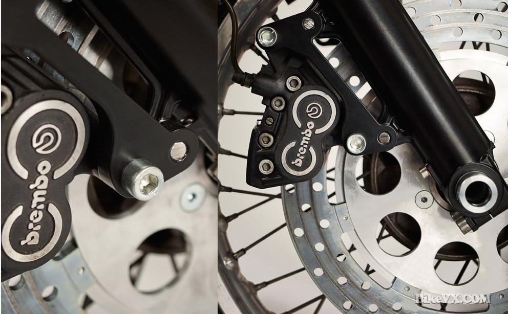 custom fuel BMW R80 S Trial brakes disk