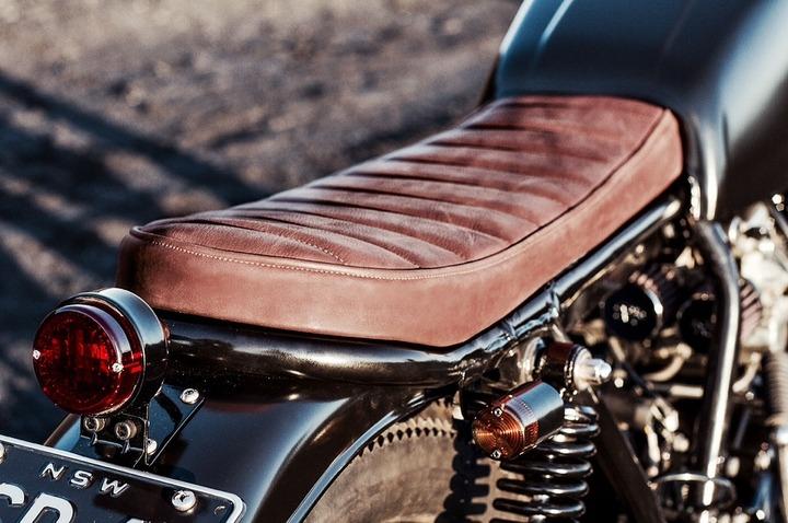 Custom leather seat for Honda bike