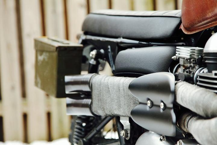 Triumph Scrambler by Derick at VDB Moto
