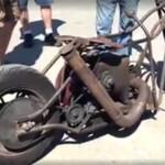 A rough rusty chopper