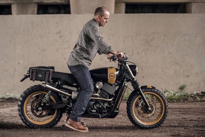 Analog Motorcycles' HD Street 750 Scrambler